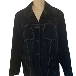 Lady Hathaway 💯% Suede Leather Jacket with accent stitching XL